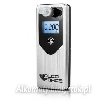 Alkomat AlcoForce EVO Srebrny Elektrochemiczny + Kalibracja GRATIS